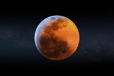 2019 Blood Wolf Moon Lunar Eclipse 015A Comp Stars - Deremer Studios LLC