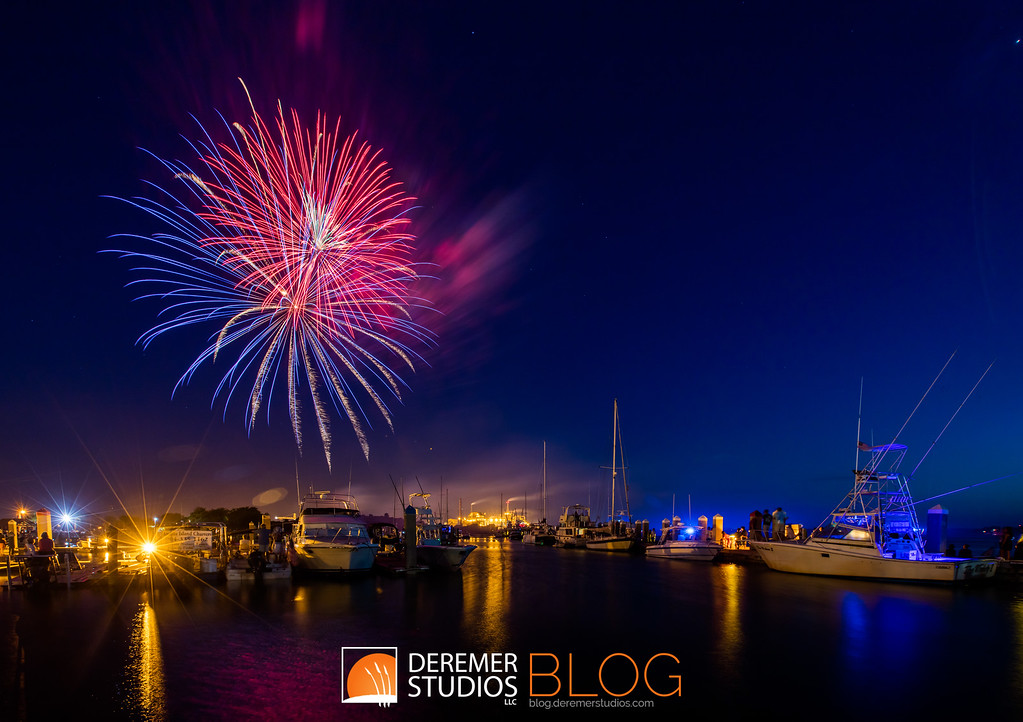 Fireworks in the Marina - Amelia Island, FL
