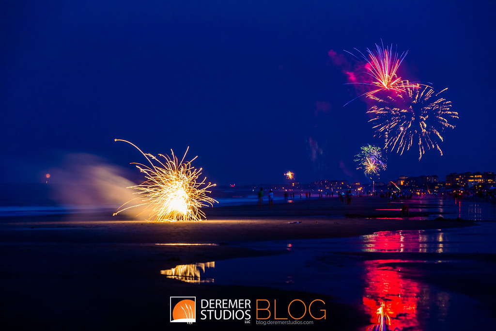 Fireworks on the Ocean - Amelia Island, FL