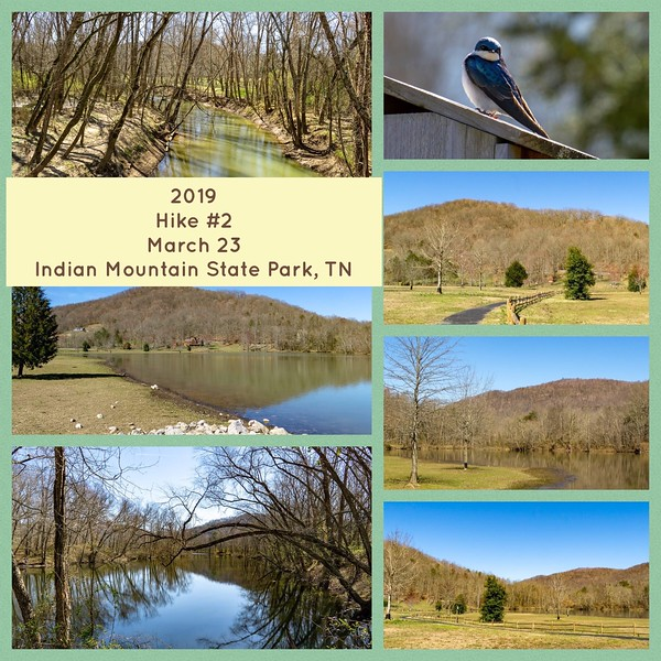 2019 Hike #2 on March 23 at Indian Mountain State Park in Tennessee
