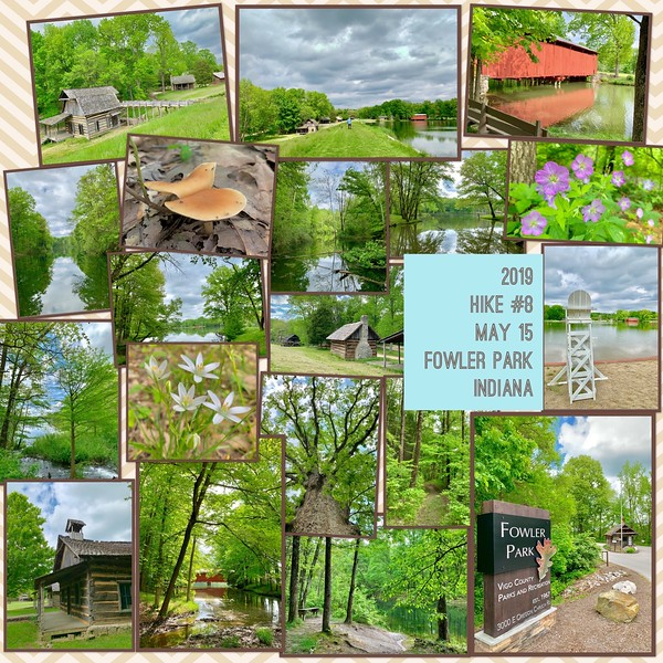 2019 Hike #8 on May 15 at Fowler Park in Indiana