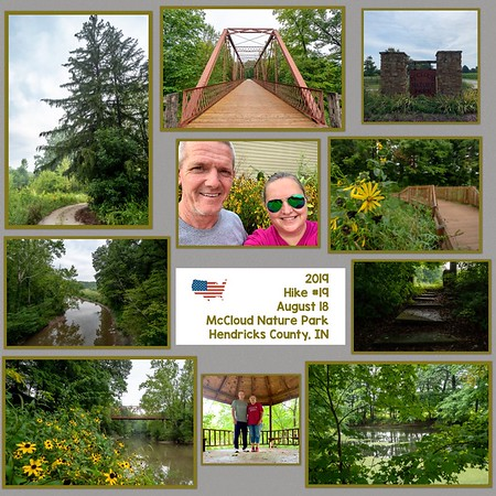 2019 Hike #19 on August 18 at McCloud Nature Park in Indiana
