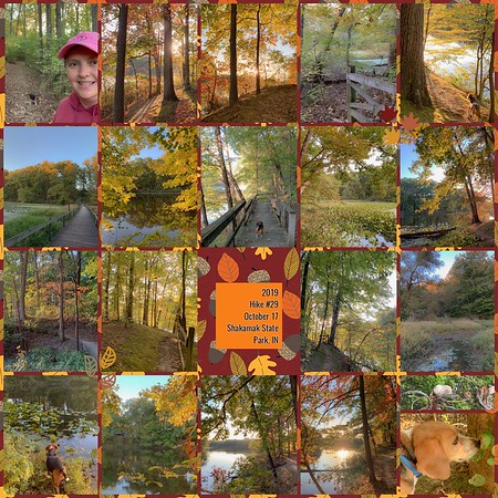 2019 Hike #29 on October 17 at Shakamak State Park in Indiana