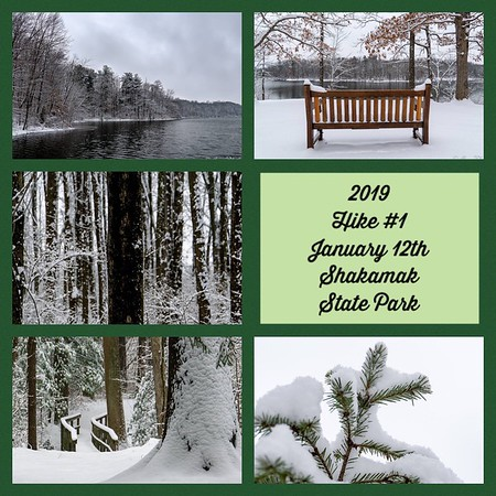 2019 Hike #1 on January 12 at Shakamak State Park in Indiana