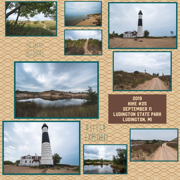 2019 Hike #25 on September 11 at Ludington State Park in Michigan