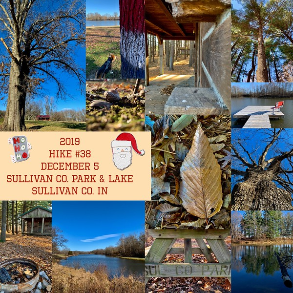 2019 Hike #38 on December 5 at Sullivan County Park and Lake in Indiana