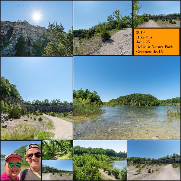 Hike #14 on June 25 at DePauw Nature Park in Indiana