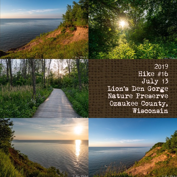 2019 Hike #16 on July 13 at Lion's Den Gorge Nature Preserve in Wisconsin
