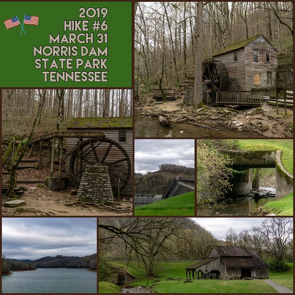 2019 Hike #6 on March 31 at Norris Dam State Park in Tennessee