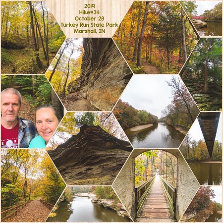 2019 Hike #34 on October 28 at Turkey Run State Park in Indiana