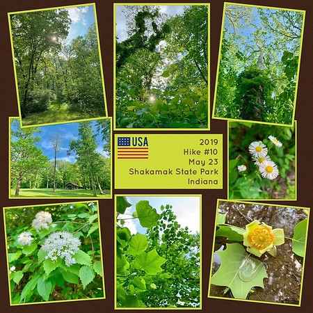 2019 Hike #10 on May 23 at Shakamak State Park in Indiana