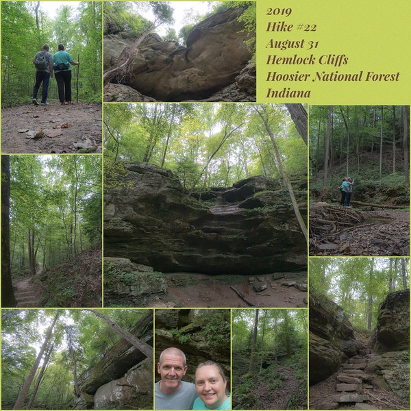 2019 Hike #22 on August 31 at Hemlock Cliffs in Indiana