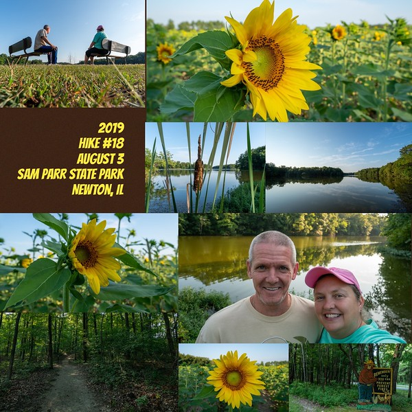 2019 Hike #18 on August 3 at Sam Parr State Park in Illinois