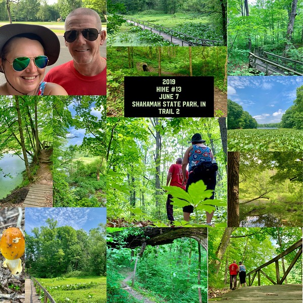 2019 Hike #13 on June 7 at Shakamak State Park in Indiana