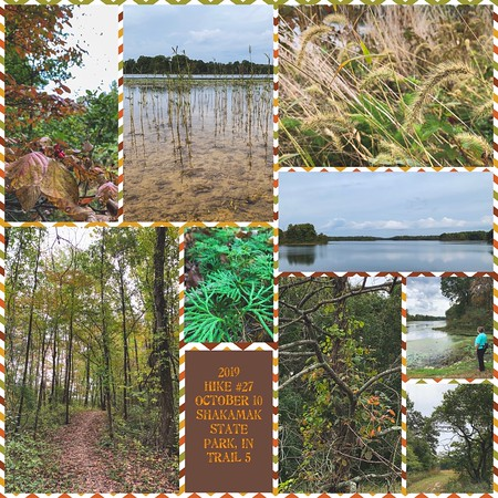 2019 Hike #27 on October 10 at Shakamak State Park in Indiana