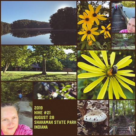 2019 Hike #21 on August 28 at Shakamak State Park in Indiana