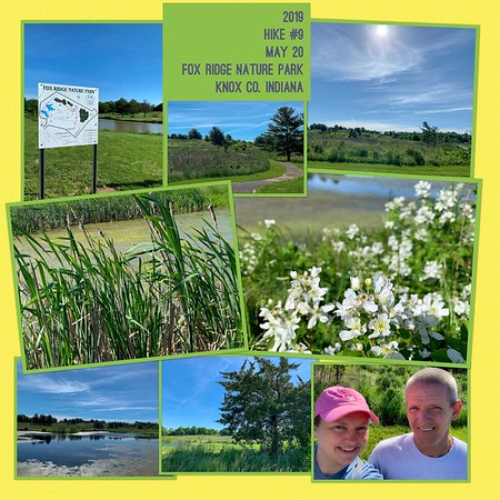 2019 Hike #9 on May 20 at Fox Ridge Nature Park in Indiana