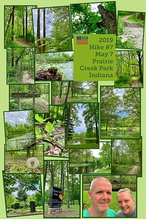 2019 Hike #7 on May 7 at Prairie Creek Park in Indiana