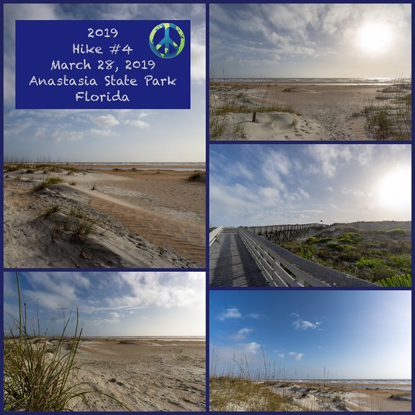 2019 Hike #4 on March 28 at Anastasia State Park in Florida