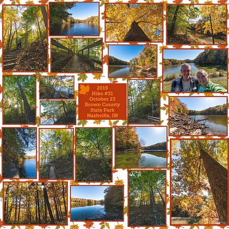 2019 Hike #31 on October 23 at Brown County State Park in Indiana
