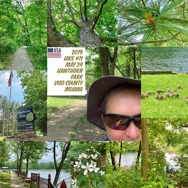 2019 Hike #11 on May 24 at Hawthorn Park in Indiana