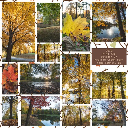 2019 Hike #33 on October 27 at Prairie Creek Park in Indiana