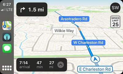 CarPlay running Apple Maps