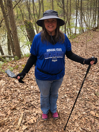 Me and my hiking garb! I have a fanny pack on. I feel much better with over 30 pounds gone so far!