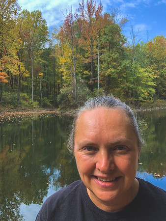 "Selfie at ""the back Lake""!"