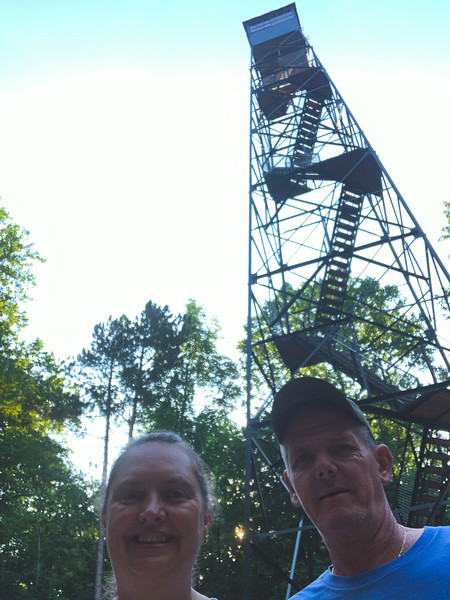 Selfie at the Fire Tower!