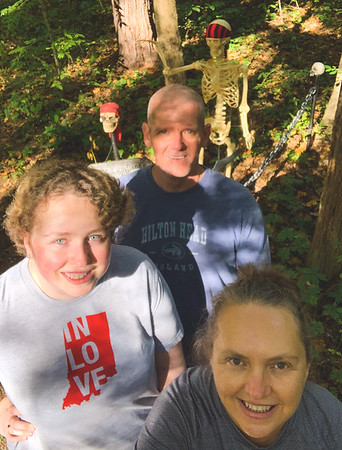 Selfie at the Campground Halloween Decor