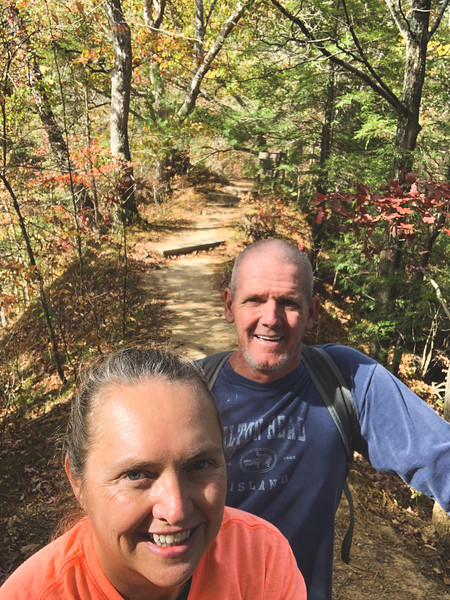 "Selfie at the ""Turkey Backbone"" as we were leaving the Preserve"