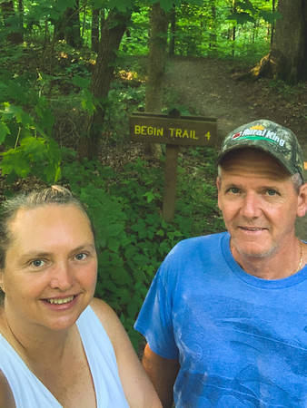 Selfie at the Trail 4 sign