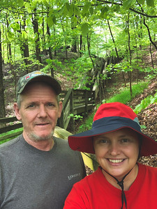 Selfie on the Beech Woods Trail's Staircase!