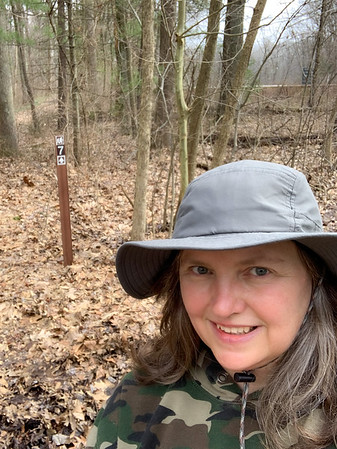 Selfie at the Trail 7 sign!