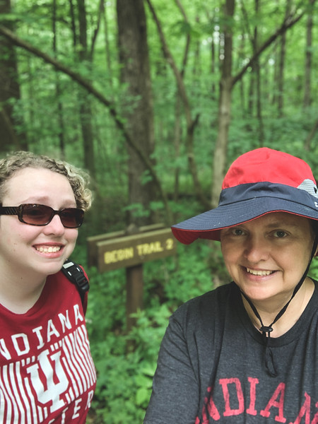 Selfie at the Trail 2 Sign