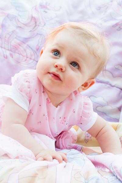 Baby wearing pink