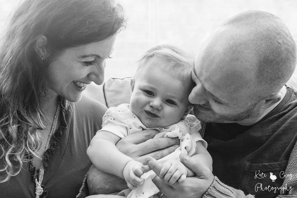 Mum, dad and 6 month old baby