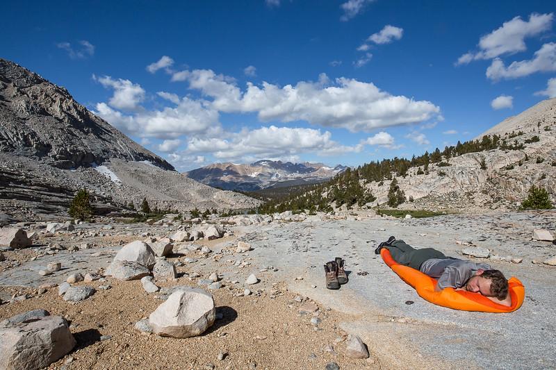 Joost getting nicely sunburnt at 11000 feet. Photo credit: Marcel Daniëls