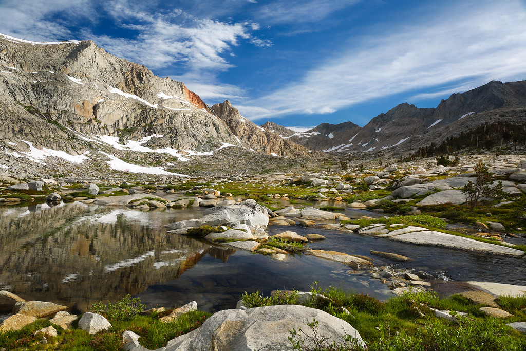 Reflections in the ponds of Nine Lakes Basin