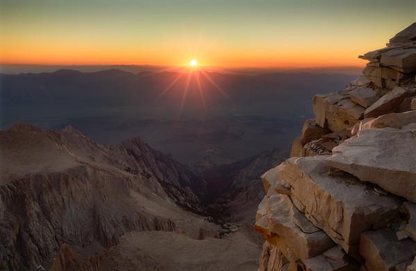 Sunrise on Mount Whitney