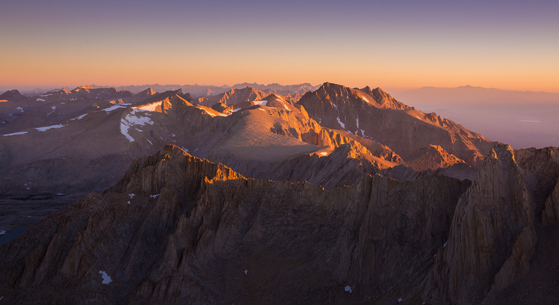 Sierra Nevada sunrise from the highest point in the contiguous US