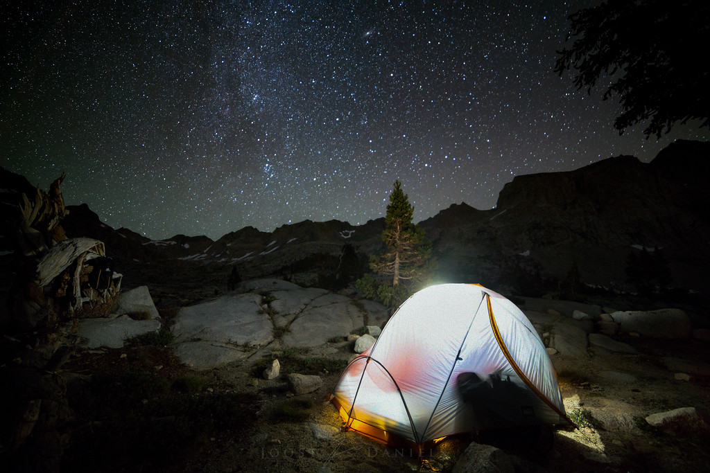 Campsite in Nine Lakes basin