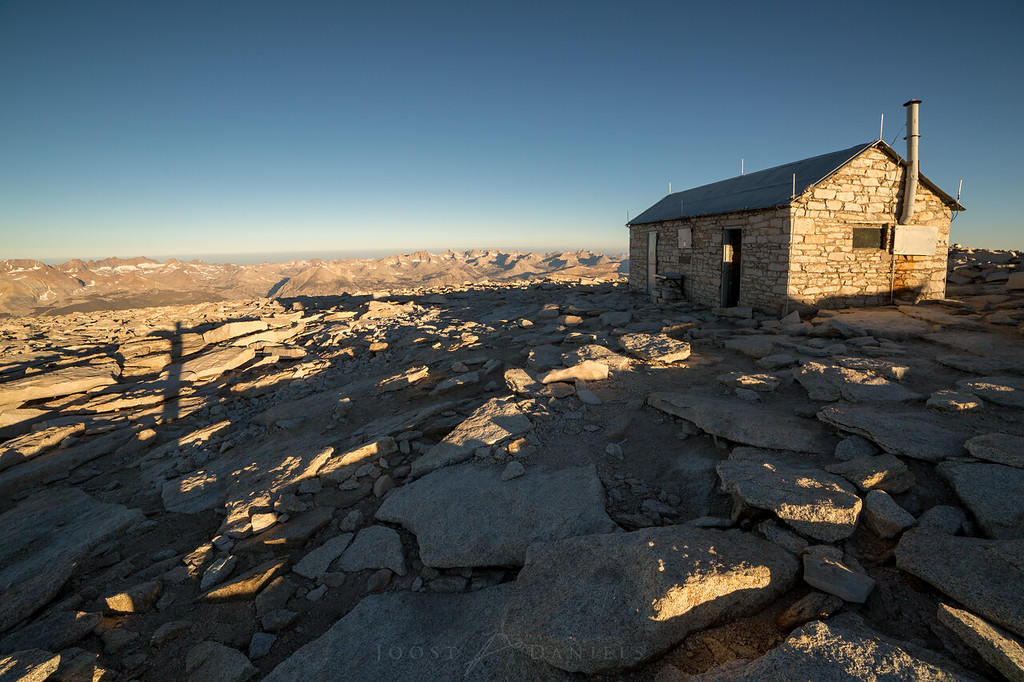 The hut on top of Mount Whitney
