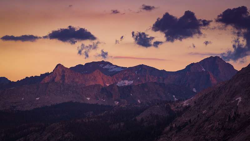 Last light on the Great Western Divide