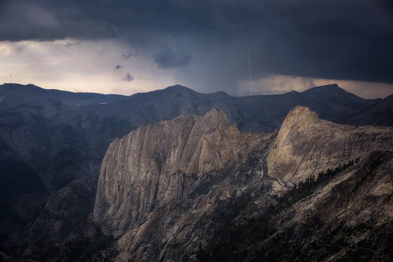 Thunder and lightning over the Sierra crest