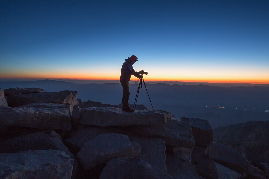 Shooting sunrise at the highest point in the contiguous US. Photo credit: Marcel Daniëls