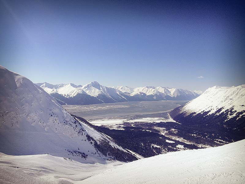 Turnagain Arm seen from Alyeska: the best view from a ski area? (Photo: Kim Olson)