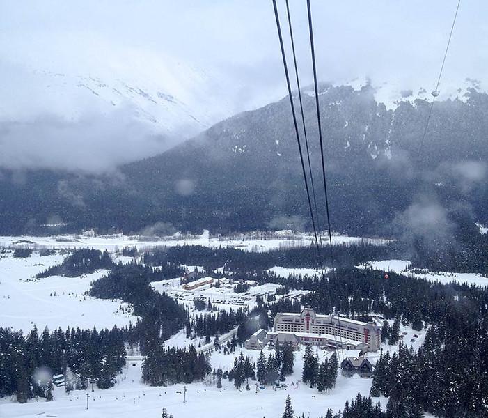 View of Alyeska Hotel from the Tram. (Photo: Kim Olson)