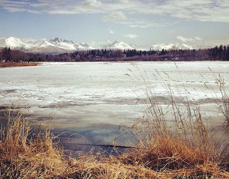 Icy Westchester Lagoon in Anchorage, Alaska (Photo: Kim Olson)